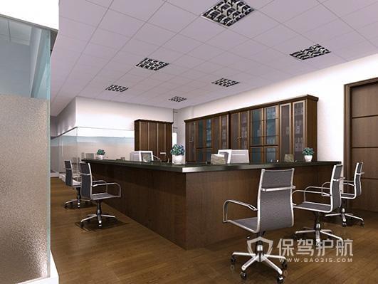 开放式办公室前台接待区设计