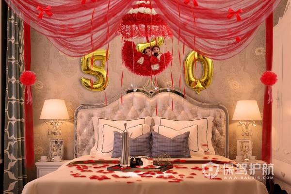2019浪漫婚房布置图片大全-婚房装修