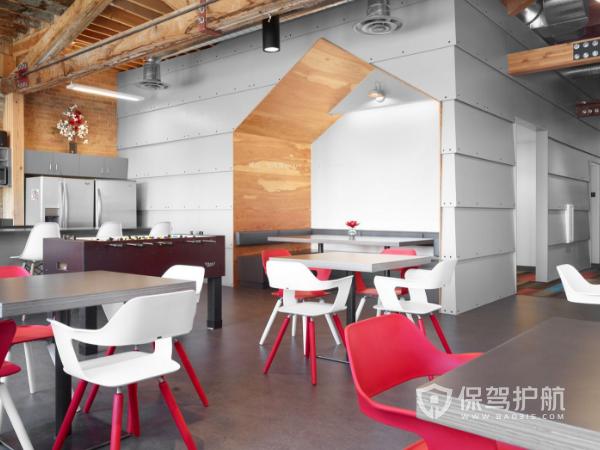 时尚欧美式办公用餐区装修实景图