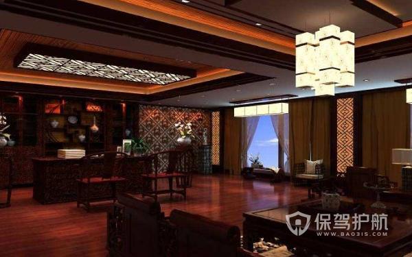复古中式办公室灯饰设计