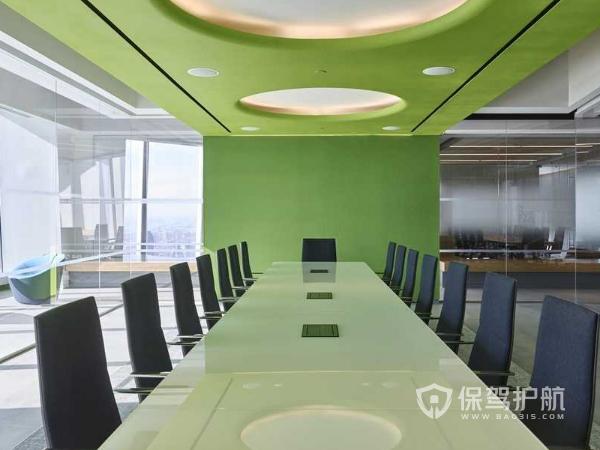 个性化欧式办公会议室装修实景图