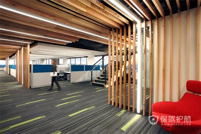 现代风格办公室过道装修效果图