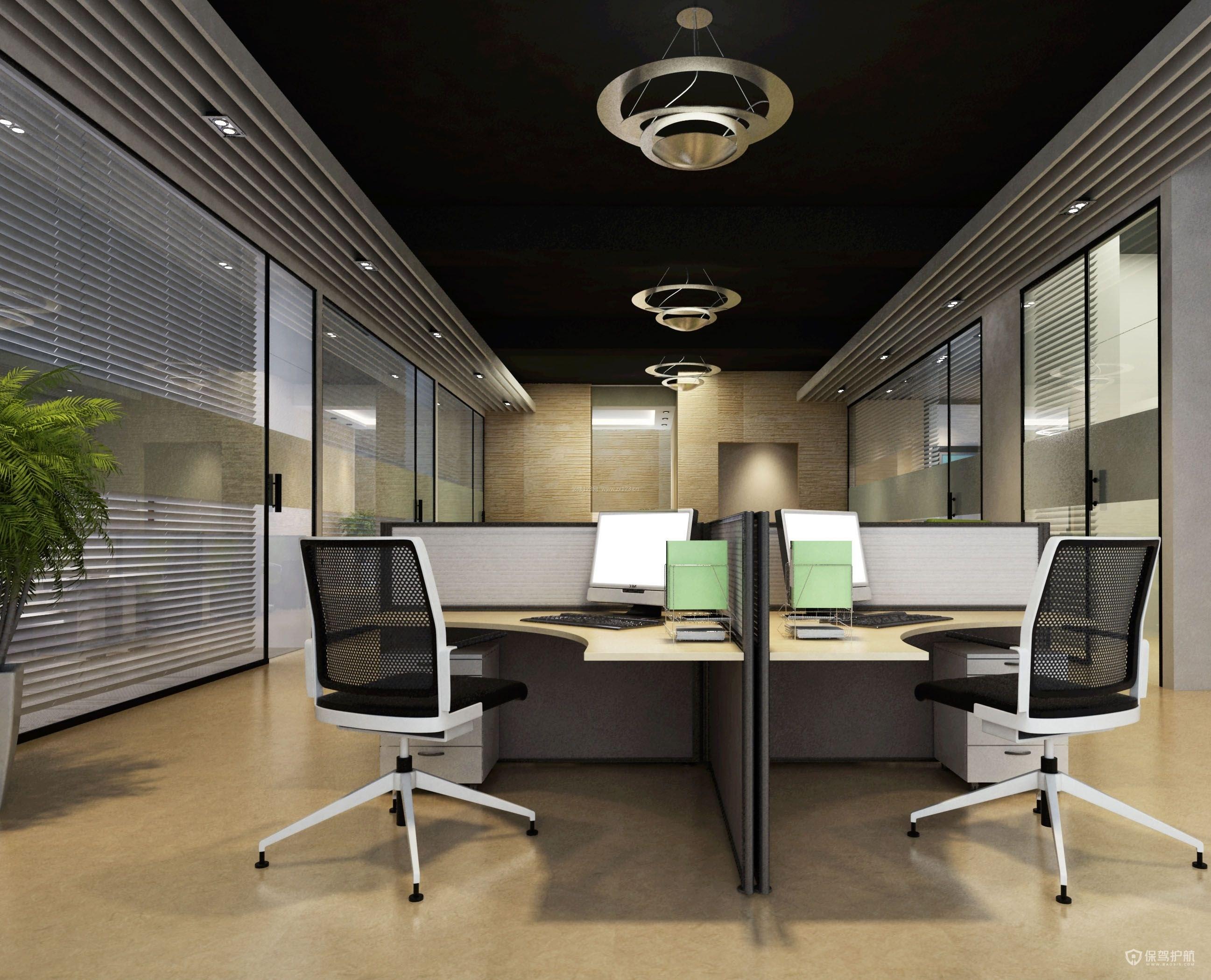 40多平大气奢华开放式办公室设计图