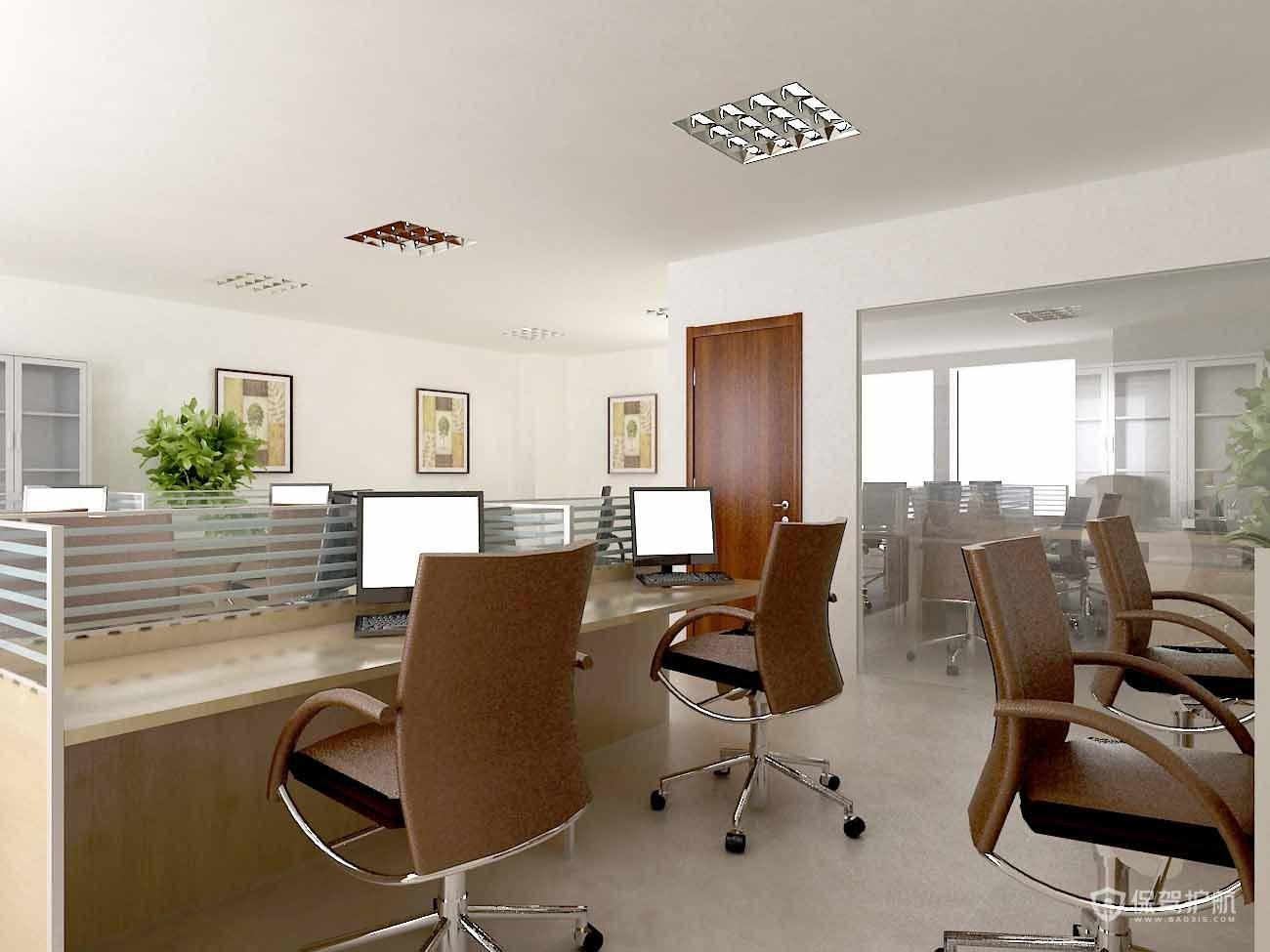小公司员工办公区设计,工作室设计图片
