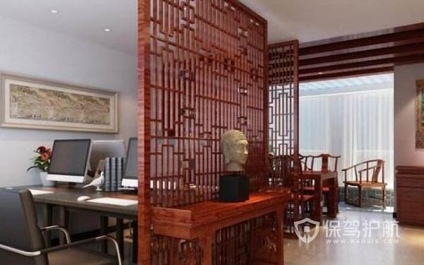 中式经理办公室隔断设计