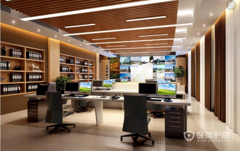 IT公司开放式办公室设计图