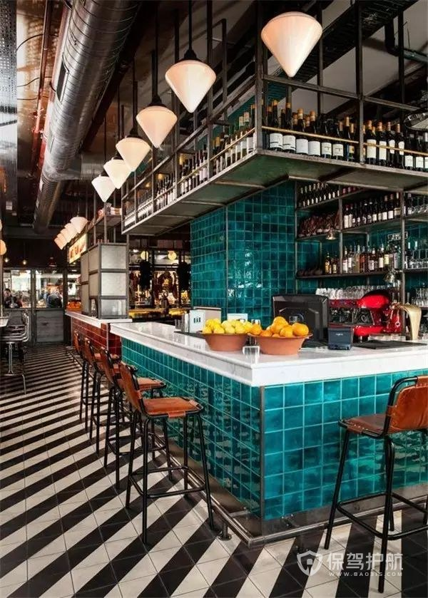 港式酒吧吧台装修设计案例