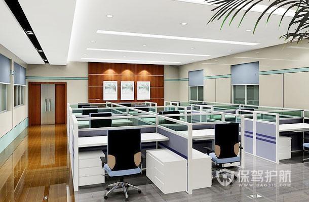 公司员工办公区走道桌椅