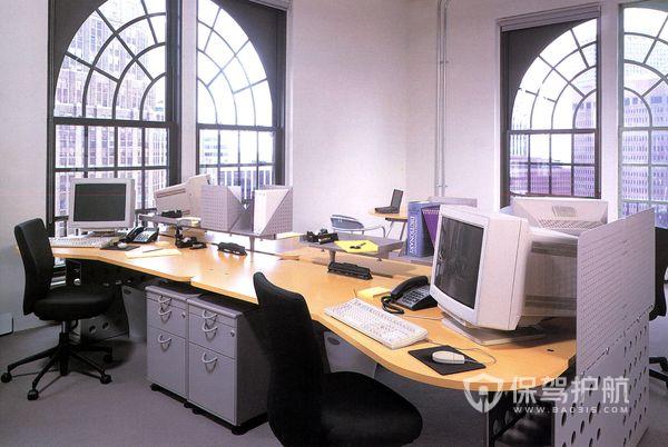 欧式开放式简约办公室图