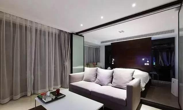 头一次见有人卧室是开放式设计!一敞开亮堂堂,谁都不信只有65㎡