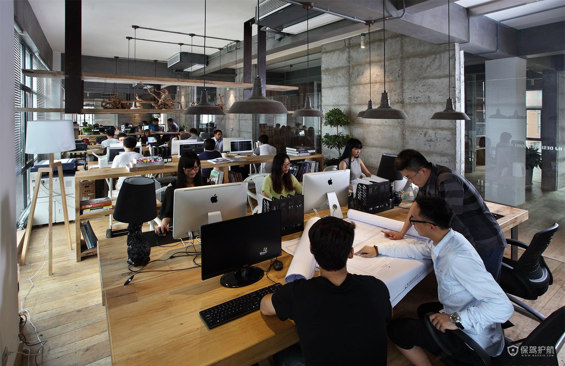 茶文化公司员工办公区域设计图