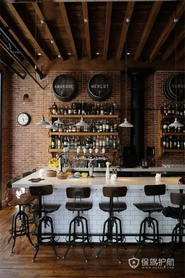 北欧风酒吧吧台效果图