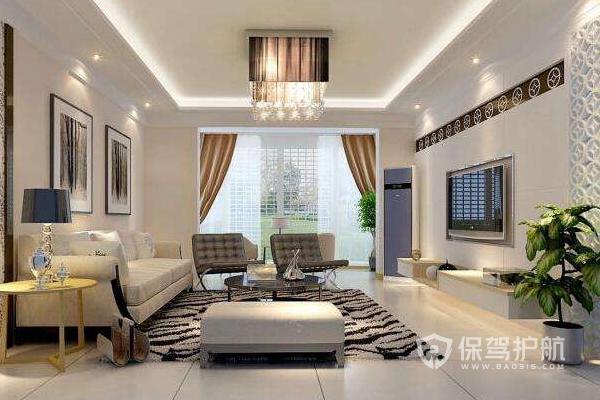 婚房客厅家具摆放效果图-保驾护航装修网