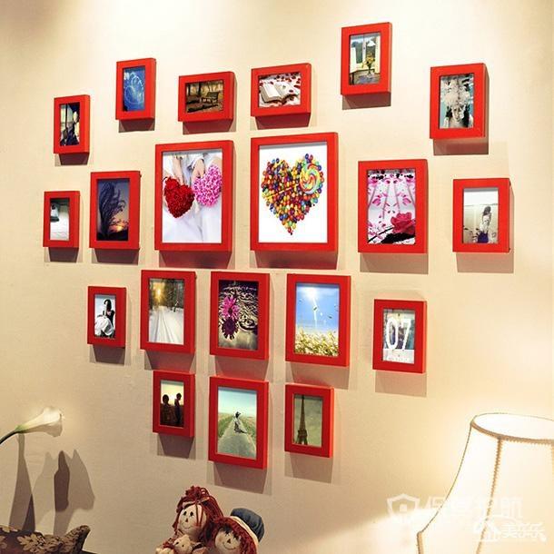 婚房照片墻怎么布置?布置婚房照片墻布置圖片