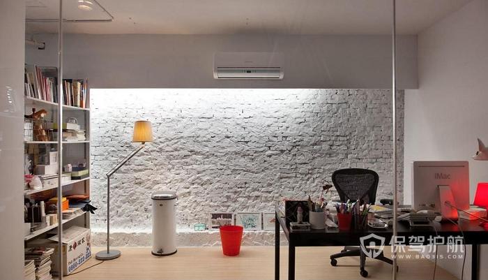简约文艺开放式办公室设计实景图