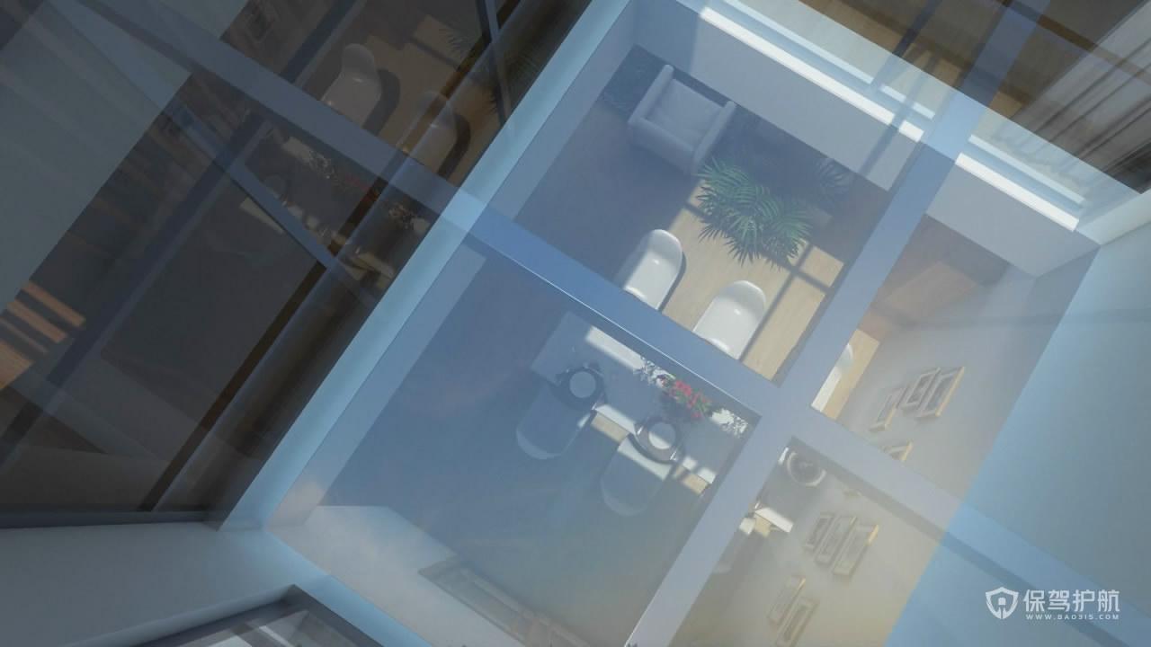 别墅采光井装修效果图——保驾护航