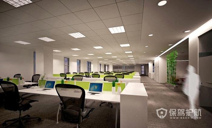 简约大型开放式办公室设计图