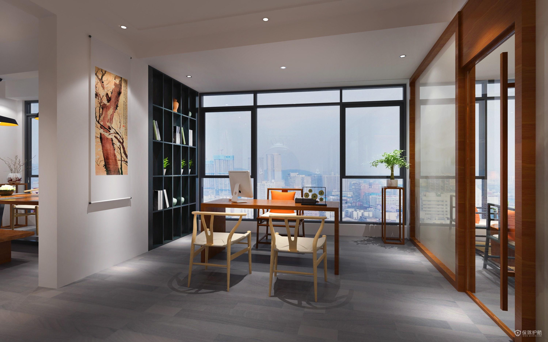 现代简约文艺开放式办公室设计图