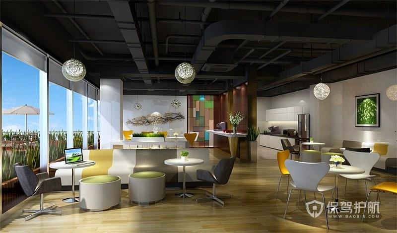 家庭式开放式办公区设计图