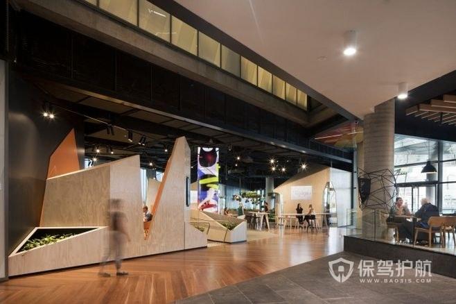 欧美大型开放式办公室设计图