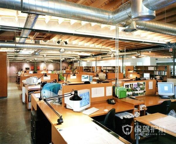 现代简约大型开放式办公室实景图