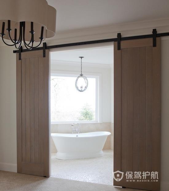 现代简约浴室推拉门效果图-保驾护航装修网