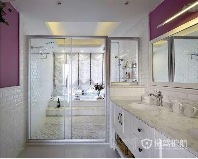 浴室推拉门装修效果图-保驾护航装修网