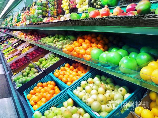 水果超市装修效果图-保驾护航