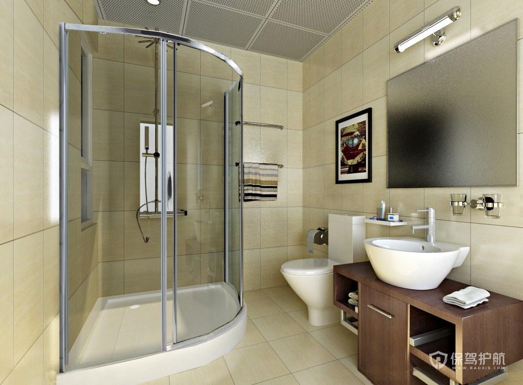 现代半圆形淋浴房装修效果图-保驾护航装修网