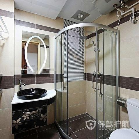 浴室半圆门淋浴房怎么安装?浴室半圆门淋浴房图案