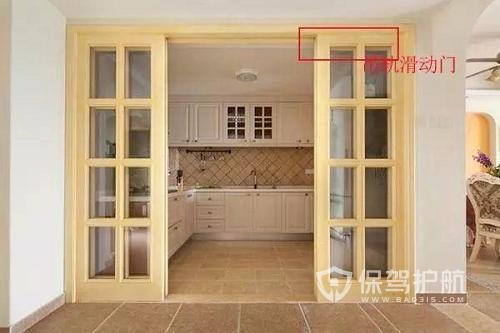 厨房吊轨门和推拉门哪个好?吊轨门有什么缺点?