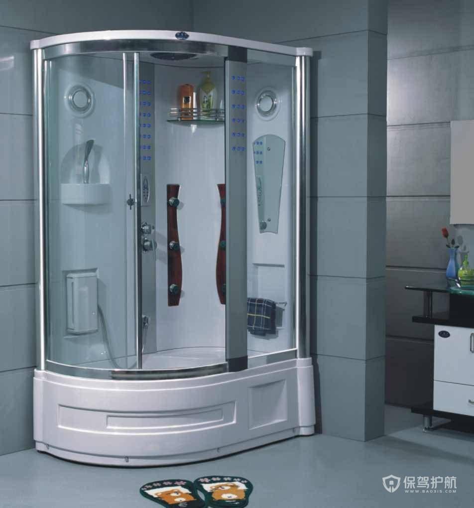 半圆形整体淋浴房效果图-保驾护航装修网