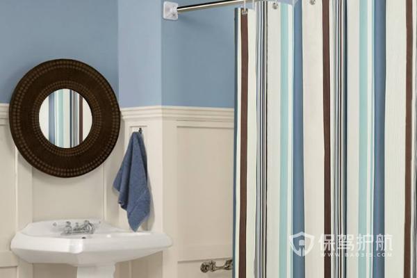 小卫生间浴帘悬挂图-保驾护航装修网