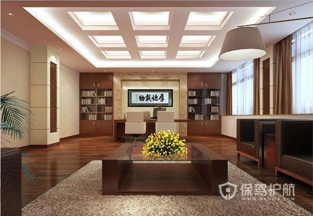 中式开放式领导办公室设计图