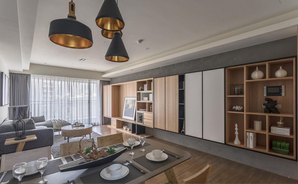 江山御景北欧风现代简约4室2厅3卫四房一百九十五平195m2家装装修案例效果图
