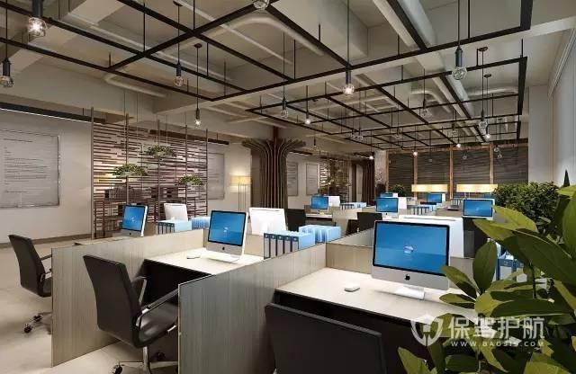 公司办公区员工工位简约设计