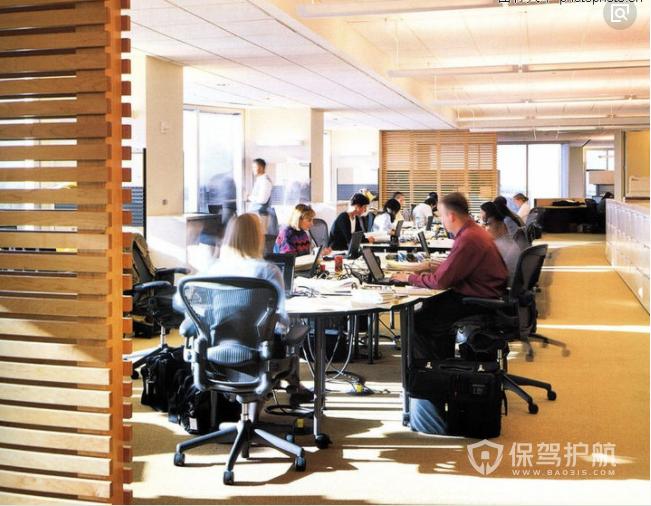 欧美现代开放式简约办公室装修实景图