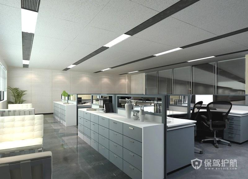 40几平开放式办公室设计图