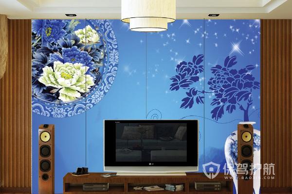 简单的电视墙玻璃贴法,简单的电视墙玻璃效果图