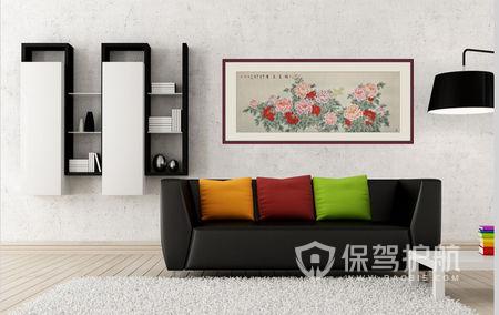 客厅墙面挂画尺寸多少合适?墙上挂画怎么安装方法