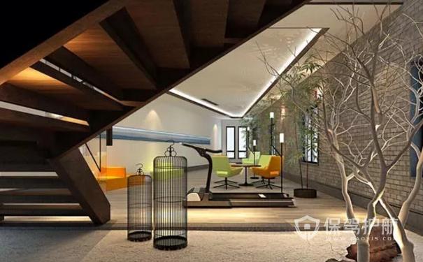 中式风格办公室接待区设计