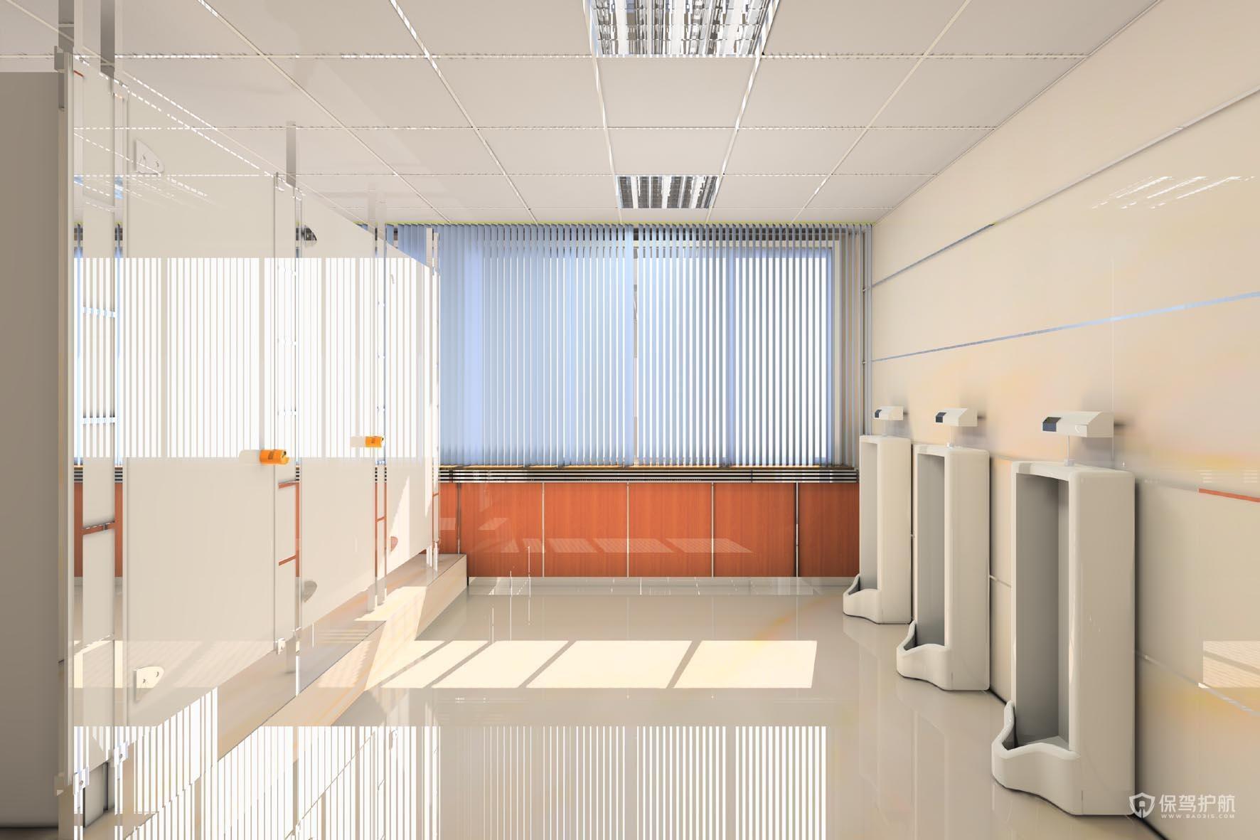 墙面瓷砖开放式办公室实景图