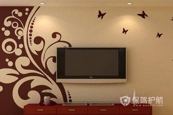 2019硅藻泥电视背景墙图片-电视墙装修
