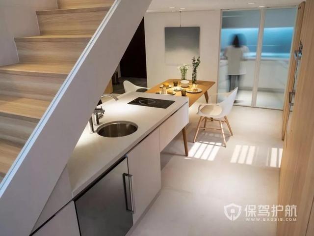 小户型装修神v户型!柜子下藏楼梯,厨房藏卫生间室内设计培训机构武汉图片