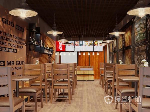 60平米快餐店施工方案 60平米快餐店施工效果图