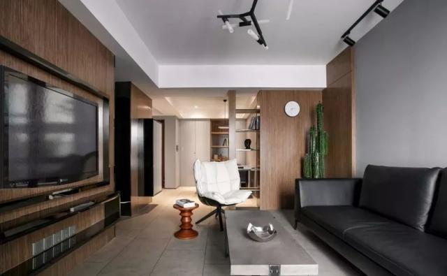 水泥灰加原木风格,这一款毛坯房装修风格绝对惊艳!