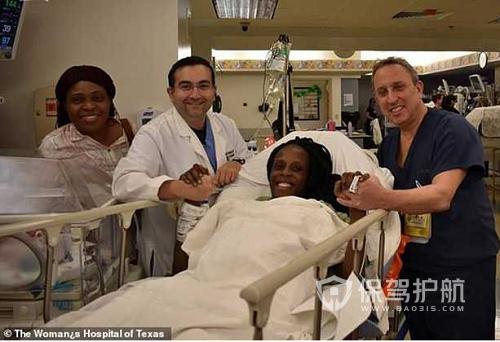 美国一孕妇九分钟连生六胞胎 概率约为47亿分之一
