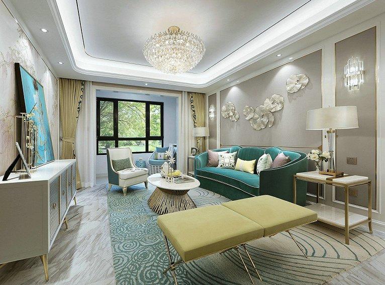 【中庭装饰】大唐天城现代轻奢4房120平