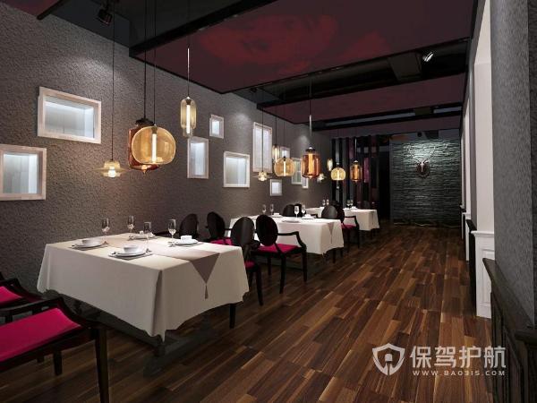 小餐馆装修效果图-保驾护航