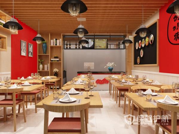小面积餐厅装修效果图-保驾护航